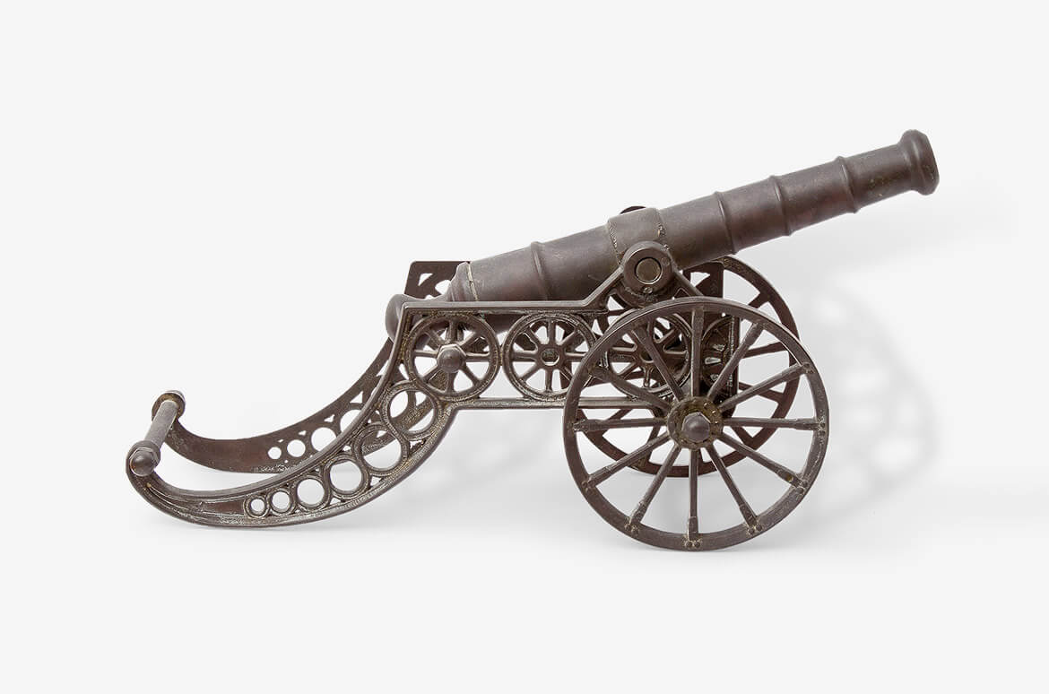 Vintage Cannon made in metal